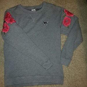 PINK sweatshirt with roses